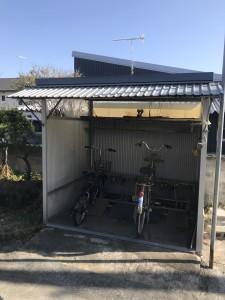 既存駐輪小屋